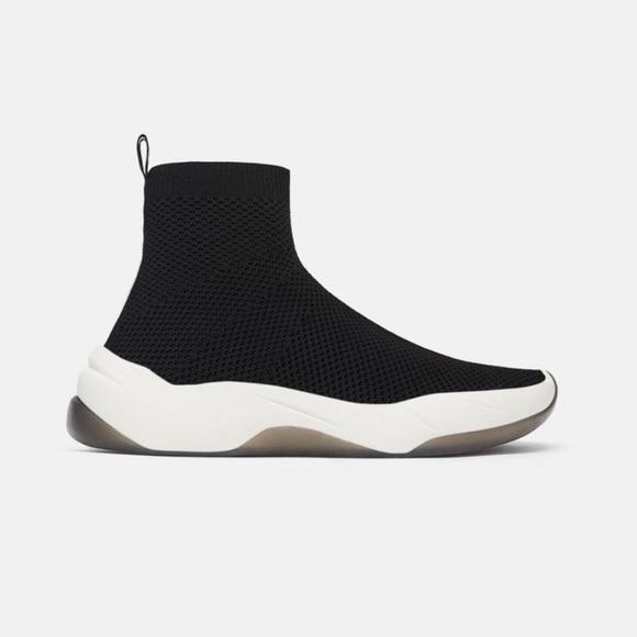 Zara Shoes   Zara Sock Sneakers   Poshmark